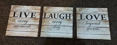 £0.99 • Buy Live Laugh Love Wall Canvas X 3