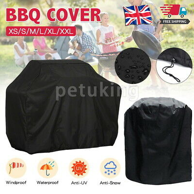 £7.99 • Buy Round Heavy Duty BBQ Cover Waterproof Barbecue Grill Protector Outdoor Covers