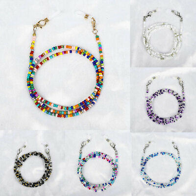 AU2.99 • Buy Glasses Neck Chain Rope Lanyard Beaded Sunglasses Reading Cord Strap Necklace