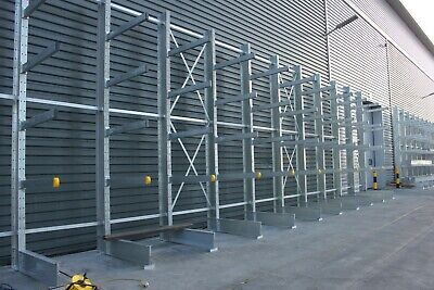 £4775 • Buy 5 POST RUN NEW HEAVY DUTY CANTILEVER RACKING 5000mm TALL 1000KG UDL ARMS