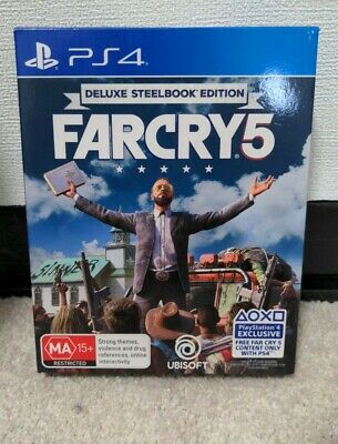 AU65 • Buy Far Cry 5 Deluxe Steelbook Edition PS4 Like New Game Is Still Sealed With DLC
