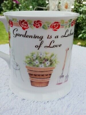 £9 • Buy Past Times. Mug. Collection By Queens.  A Gardeners Work Is Never Done ...