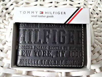 £17.99 • Buy Men's Leather Wallet 'Tommy Hilfiger' Bifold, BLACK, Coin Pouch ,No.085, Special