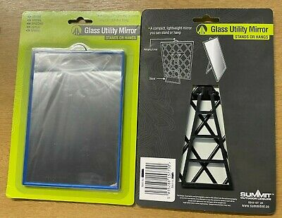 £6.90 • Buy Camping Glass Utility Mirror Can Be Used Free Standing Or Hang 12 X 17cm