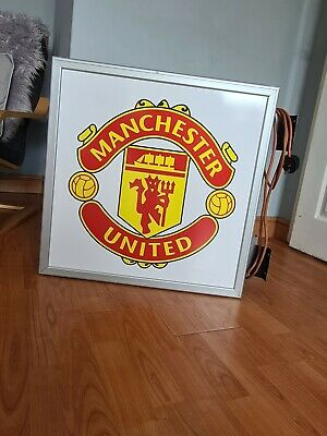 £199 • Buy Manchester United Illuminated Light Box Pub Sign Mancave Collectable Football