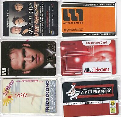 £3 • Buy GREECE 6 Different Calling Cards Mint