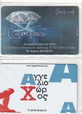 £2 • Buy GREECE 2 Different Calling Cards Mint