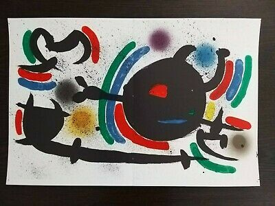 £24.90 • Buy Original Lithograph X By Joan Miro. Authenticity Guaranteed!