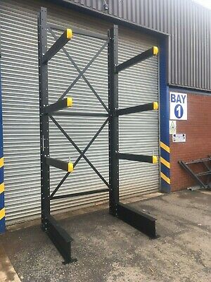 £4650 • Buy 5 POST RUN NEW HEAVY DUTY CANTILEVER RACKING 5000mm TALL 1000KG UDL ARMS