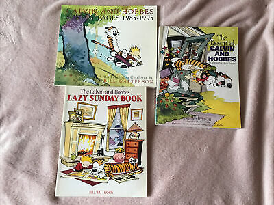 £6.99 • Buy 3 Calvin & Hobbes Cartoon Strip Books: Lazy Sunday, Essential .., Sunday Pages