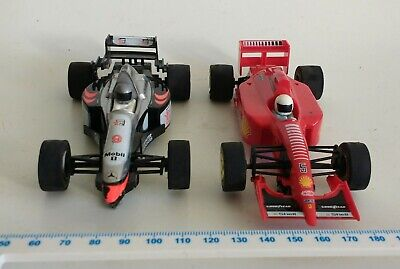 £5.99 • Buy Vintage 2 Scalextric Hornby Hobbies F1 Cars Red Fiat Black Mercedes Benz C133