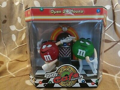 $9.99 • Buy M&M Rockin Roll Cafe Candy Dispenser Red & Green Limited Edition