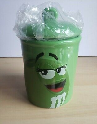 $22.95 • Buy Ms. Green Ceramic M&M Candy Cookie Jar W/ Lid Mars Collectible