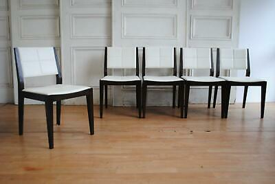 AU265 • Buy Set 4 +1 Quality Made Oak Dining Chairs - Stitched Upholstery Mid Century Look