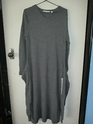 AU9.75 • Buy Lovely Country Road Sz M Grey Knit Long Sleeve Dress