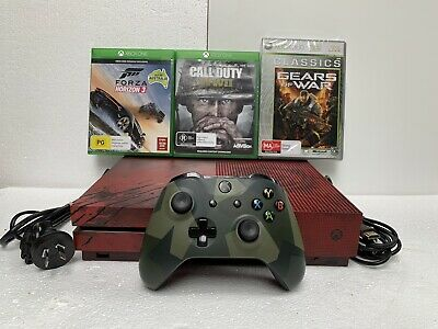 AU379 • Buy Microsoft Xbox One S Gears Of War 4 Limited Edition Console + 3 Games - Rare