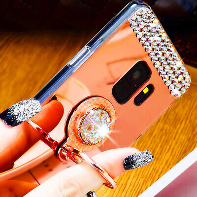 $ CDN10.95 • Buy Luxury Rhinestone Ring Mirror Stand Case Cover For Samsung Galaxy S9 S8 Plus S7