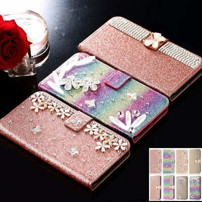 $ CDN13.40 • Buy Handmade DIY Crystal Bling Leather Wallet Case Cover For Samsung Galaxy S9 Plus
