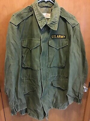 $75 • Buy VTG 1960s M-51 Field Jacket Long Small- Sateen 107 60s US Army M-1951