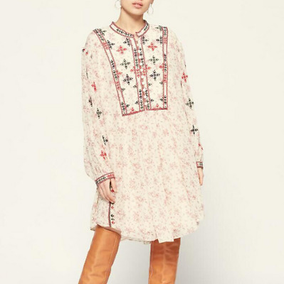 $ CDN118.14 • Buy 2021 Retro Long-sleeved Shirt Floral Embroidery Jumpsuit Isabel Marant