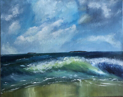 £75 • Buy Original Painting By Helen Stamp. Oil On Canvas Landscape 30x30 Cm. New Art