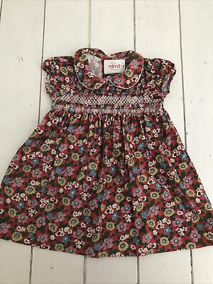 £15 • Buy Baby Girl NWT Cath Kidston Red Floral Smocked Dress Size 6-12 Months RRP£25