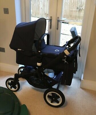 £380 • Buy Bugaboo Buffalo Limied Edition Navy And Cream Quilted, Parasol, Bag, Adaptors