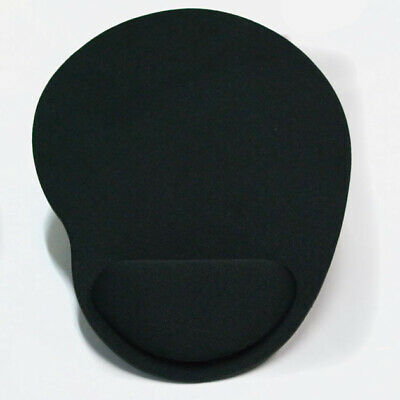 £3.89 • Buy Black Anti-slip Mouse Mat Pad With Foam Wrist Support Computer Pc & Laptop Rest