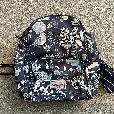 £3.60 • Buy Cath Kidston Navy Blue Magical Memories Backpack Small Bird Floral