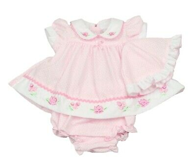 £11.95 • Buy Baby Girls Dress Pants Hat Set Traditional Summer Spanish Romany Floral Rose NEW