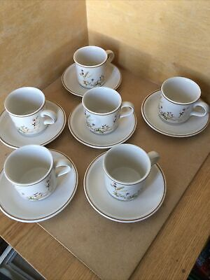£12.99 • Buy Marks And Spencer Set Of 6 Tea Cups And Saucers In Harvest Pattern