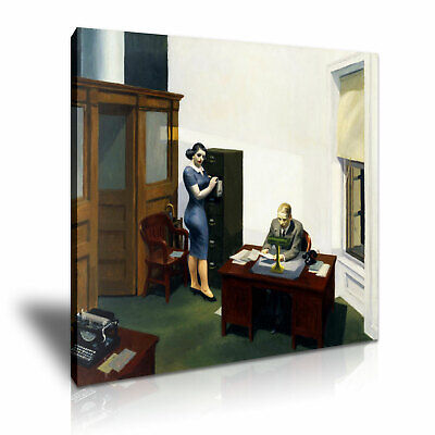 £14.99 • Buy Edward Hopper 1940 Office At Night Stretched Canvas Home Decoration ~ More Size
