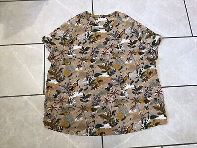 £2 • Buy Lovely Tropical Print T-shirt Size 24