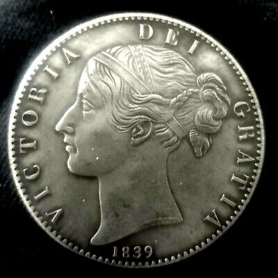 £12.50 • Buy 1839 Queen Victoria Young Head Crown ~ Silver Plated Coin