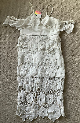 AU5.53 • Buy Ladies Missguided Special Occasion Cold Shoulder Frill Midi Dress Size 16