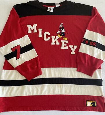 $19.99 • Buy Vintage Look Mickey Mouse Long Sleeve Graphic Large Print T-Shirt Sz 2XL (MM70)