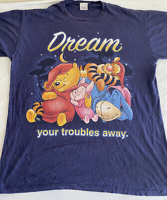 $14.99 • Buy Vintage Look Winnie The Poo Cool Graphic Large Print T-Shirt Size 2XL (MM49)