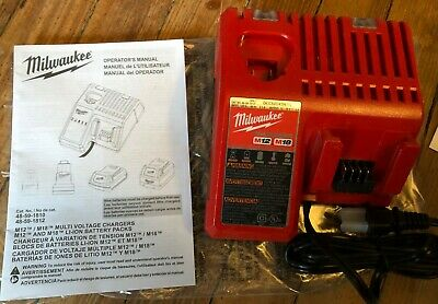 $34 • Buy NEW Milwaukee M12 M18 Battery Charger 48-59-1812 Lithium Li-Ion Multi-Volt Combo