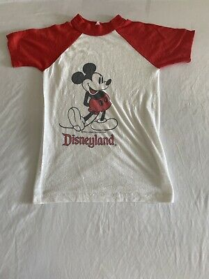 $19.99 • Buy Vintage Look Mickey Mouse Cool Graphic Large Print T-Shirt Size 6-8 (MM23)