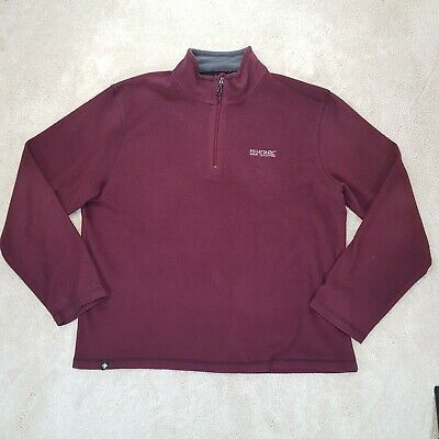 AU0.02 • Buy Regatta Great Outdoors Sweater Adult Extra Large Red Grey Spell Out Logo Mens *