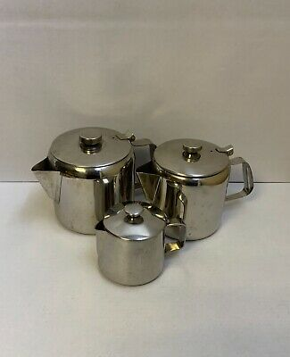 £1 • Buy 3 X Stainless Steel Teapots 500ml - 1.25L - 1.75L Home Restaurant Catering