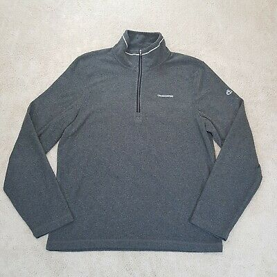 AU0.02 • Buy Craghoppers Sweater Adult Small Grey Spell Out Logo Jumper Camping 1/4 Zip Mens