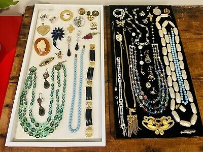 $ CDN30.50 • Buy Antique Vintage Jewelry Lot Unresearched Costume Estate Buy Varied Signed Clip
