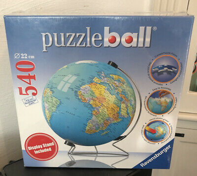 $32 • Buy Puzzle Ball 540 Pieces The Earth 3D With Stand New Factory Sealed  Ravensburger