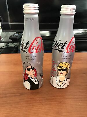 £16 • Buy Diet Coke Coca Cola Ab Fab Absolutely Fabulous Limited Edition Metal Bottles X 2