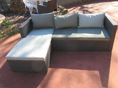 AU119.99 • Buy Outdoor Furniture Wicker Rattan Lounge Setting, With Cushions, Good Condition