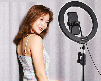 AU26.98 • Buy 10 Inch Dimmable LED Ring Light + 1.1m Tripod Stand Selfie Circle Lamp Make Up
