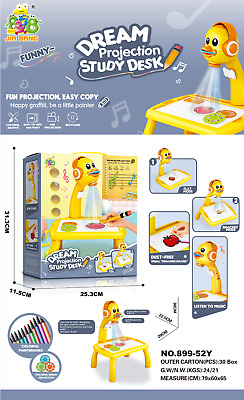 AU45.95 • Buy Mini Projector Kids Drawing Table Art Painting Desk Board Projection Educational