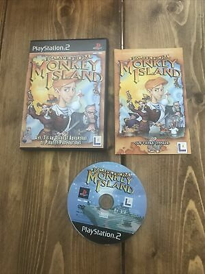 £4.99 • Buy PS2 ESCAPE MONKEY ISLAND VGC Complete With Manual - Tested / Working