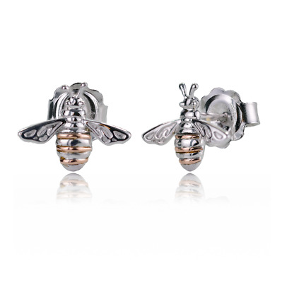 £69 • Buy Clogau Silver Earrings Stud Honey Bee Welsh Rose Gold Sterling 925 Boxed 3SHNBE